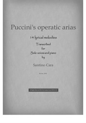 14 Puccini's operatic arias for voices and piano