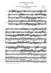 Trio Sonata in G major for Flute, Violin, Cello and Harpsichord (or Piano)