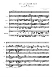 Vivaldi - Oboe Concerto in D major for Oboe, Strings and Continuo - Score and Parts