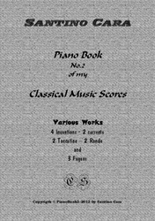 Piano book No.2 classical music scores -13 pieces with mp3 audio