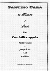 Book of 10 motets and Lauda for SATB a cappella - Full scores and mp3