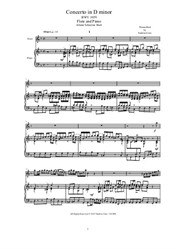 Concerto in D minor for flute and piano