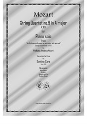 Mozart – Complete String quartet No.9 in A major for piano solo