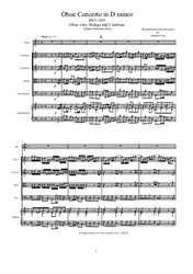 Bach - Oboe Concerto in D minor for Oboe, Strings and Continuo